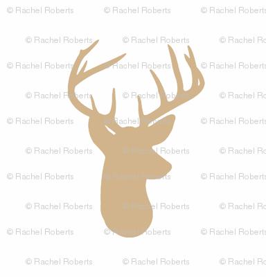 Tan Deer on White