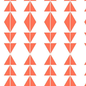 Coral Tribal Triangles
