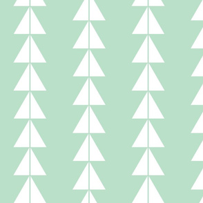 White Triangle Arrows on Mint