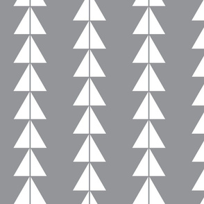 White Triangle Arrows on Grey