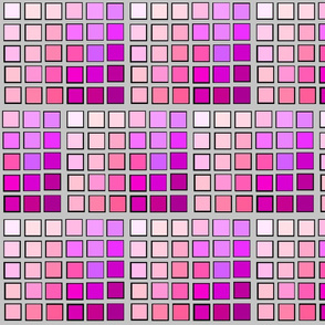 Stained Glass in Pinks