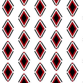 Diamonds n Dots Red_Black