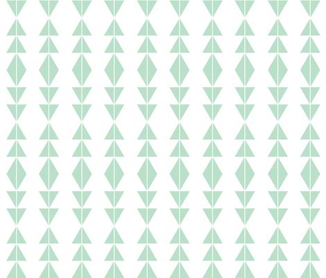 Mint Tribal Triangles fabric by modfox on Spoonflower - custom fabric