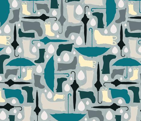 Rainy Day fabric by pollyannahandmade on Spoonflower - custom fabric