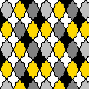 moroccan lattice_yellow_black_gray