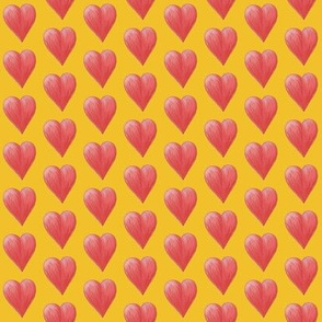 Watercolor Love Hearts (yellow)