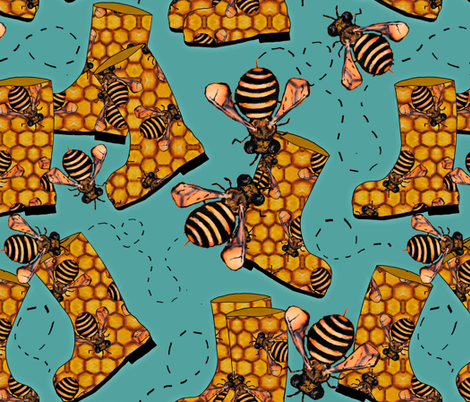 BeeWell(ies) fabric by joojoostrees on Spoonflower - custom fabric