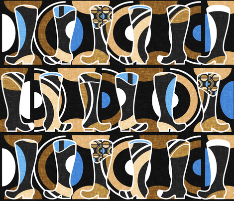 These wellies were made for mud (African) by Su_G fabric by su_g on Spoonflower - custom fabric