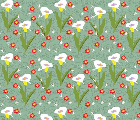I love lilies fabric by fiona_sinclair_design on Spoonflower - custom fabric