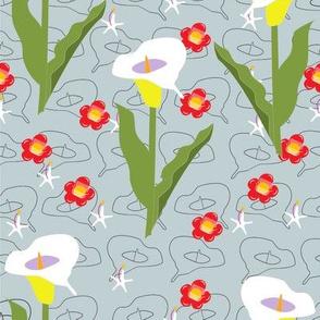 I love lilies on blue