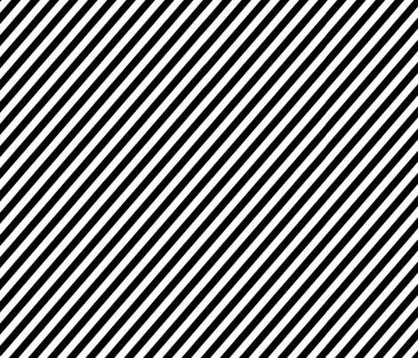 diagonal_black and white_stripes fabric by graphicdoodles on Spoonflower - custom fabric
