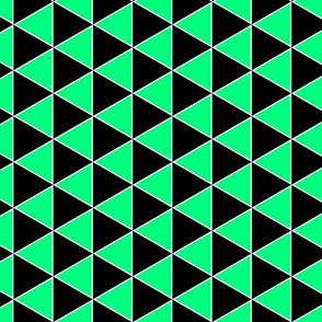 Triangle geometric black and pistachio