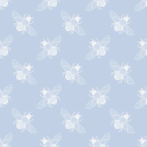 Baby Bee Diagonal, Faded Blueberry 1