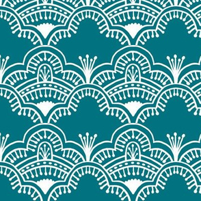 Scallop Lace Dark Teal