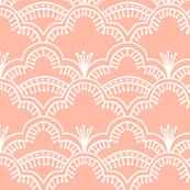 Scallop Lace Coral