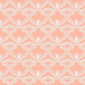Scallop Lace Coral