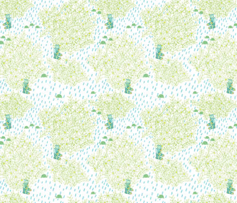 turtles came to see my boots fabric by jeannemcgee on Spoonflower - custom fabric