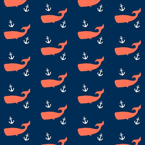 Coral Whales on Navy
