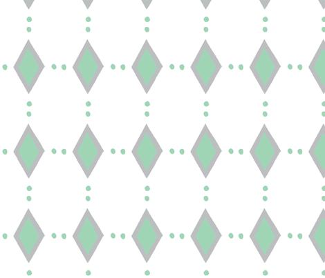 diamonds_green_gray fabric by mattieanne on Spoonflower - custom fabric