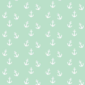 White Anchors on Mint