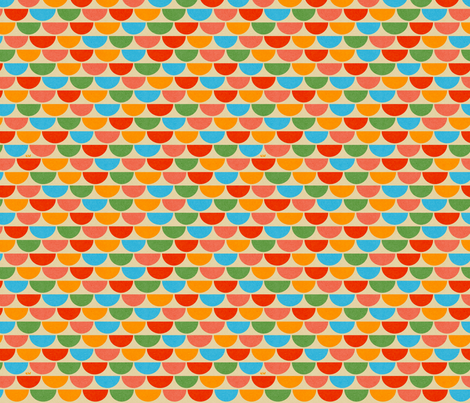 Rainbow Scallops fabric by studio_amelie on Spoonflower - custom fabric