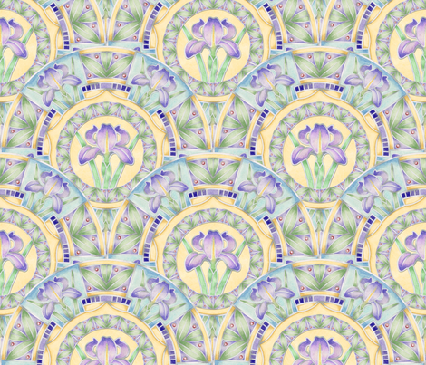 Nouveau Iris fabric by patriciasheadesigns on Spoonflower - custom fabric