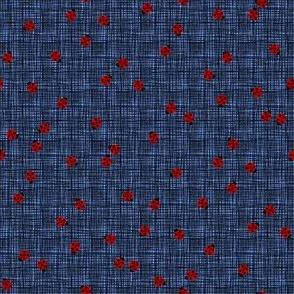 Ladybugs (Blue Background)