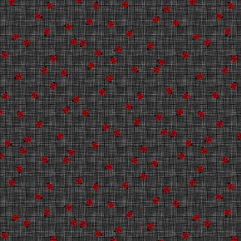 Ladybugs (Gray Background) fabric by siya on Spoonflower - custom fabric