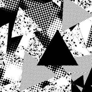 Scatter halftone triangles