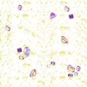 scattered crystal