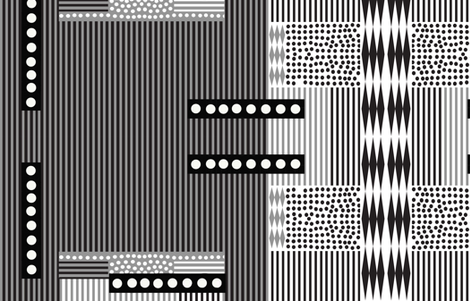 stripes and spots monotone fabric by bohobanjocloth on Spoonflower - custom fabric
