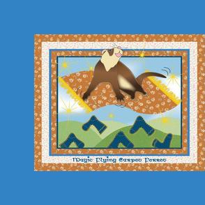 Magic Flying Carpet Ferret Cerulean Blue