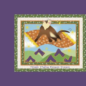 Magic Flying Carpet Ferret Plum