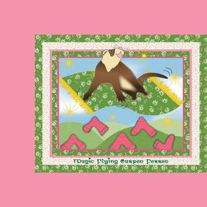 Magic Flying Carpet Ferret Pink