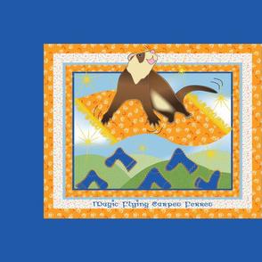 Magic Flying Carpet Ferret Dark Blue
