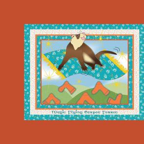 Magic Flying Carpet Ferret Burnt Orange