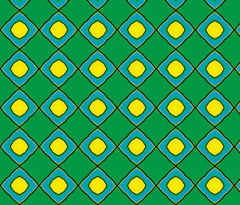 Pond Diamond Ogee fabric by beesocks on Spoonflower - custom fabric