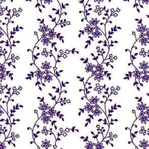 Purple Trailing Floral