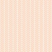 Blush Peach Arrow Feather pattern