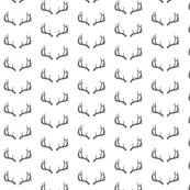 Deer Antlers in Gray Mini
