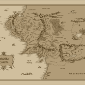 """Map Of Middle Earth X-Large 42x28"""""""