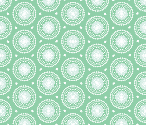 Bandana* (Green Stamps) || pastel scarf handkerchief stars starburst circles flowers fireworks geometric western mandala fabric by pennycandy on Spoonflower - custom fabric