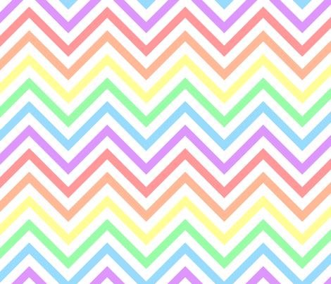 Pastel Rainbow Chevrons fabric by joyfulrose on Spoonflower - custom fabric
