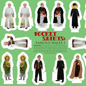 Cut and Sew Saints Dolls famous male saints 3