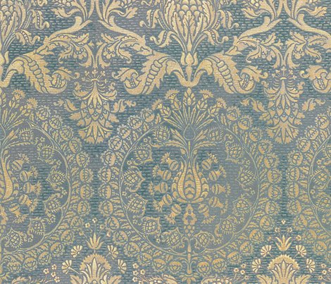 Catherine_of_aragon___provencal_blue_and_gold___large___peacoquette_designs___copyright_2013_shop_preview
