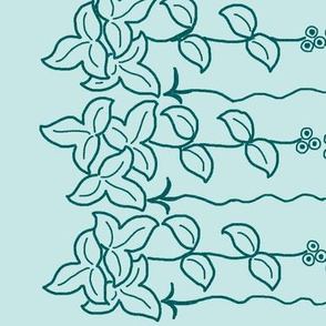 Herb Border - 12 inch - dkgreenblue-pattern-on-paleseafoam175-10-90-12x60-rotated