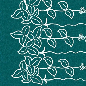 Herb border -12 inch - white-lines-dkgreenblue-pattern-12x60-rotate