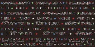 Nautical Alphabet in 50s colors