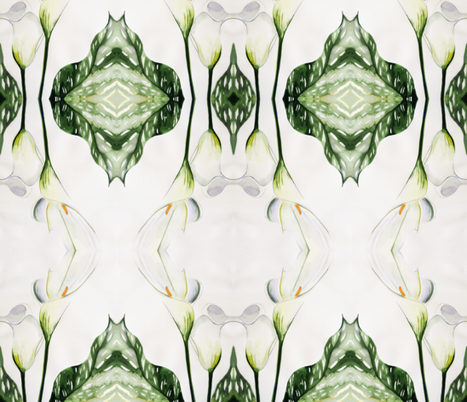Calla Lily fabric by suebee on Spoonflower - custom fabric