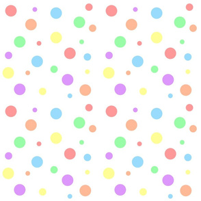 Pastel Rainbow Dots - Small